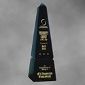 "Marble Obelisk - 10"" corporate award, corporate crystal award, glass award, stunning glass award, art glass award, quality award, impressive award"